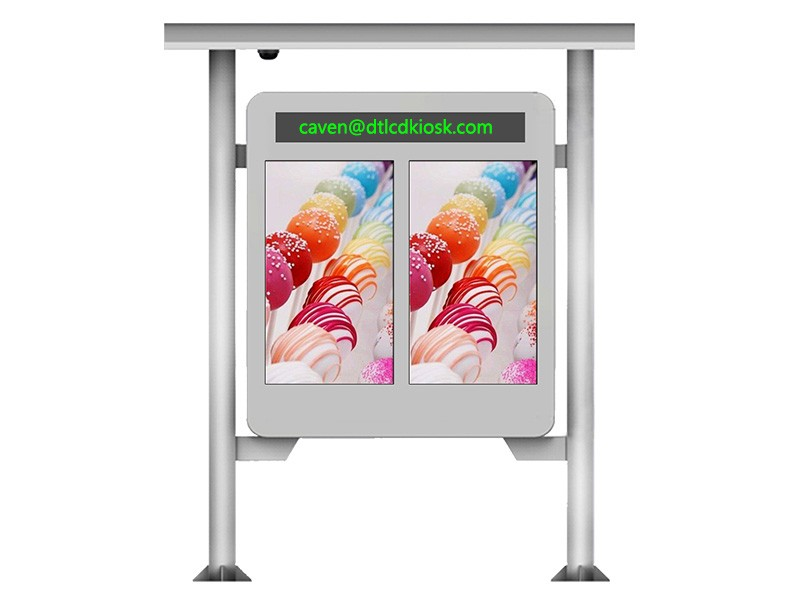 Outdoor dual screen display